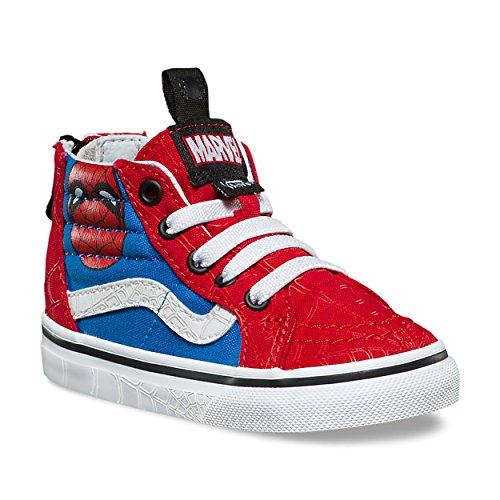 Vans Marvel Sk8-Hi Zip Toddler | Spiderman/True White (2R3U4I) (2.5-Infant) -