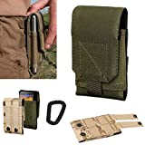 Arcraft(TM) L Size Army Green Molle Camo Bag Military 1000D Nylon Utility Tough Heavy Duty Tactical Compatible Waist Pack Universal Waist Bags Casual Climbing Hiking Outdoor Rock Gear Holster Pouch Cycling Carrying Big Pouch Belt Waist Bag / Pocket for Mu
