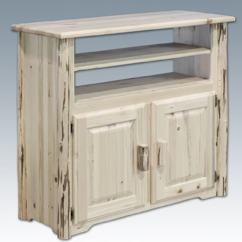 Montana Woodworks MWMCV Montana Collection Media Center, Clear Lacquer Finish ()