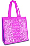 Let The Beauty of the Lord 12 x 12 Inch Reusable Eco-Friendly Tote Bag Pack of 6