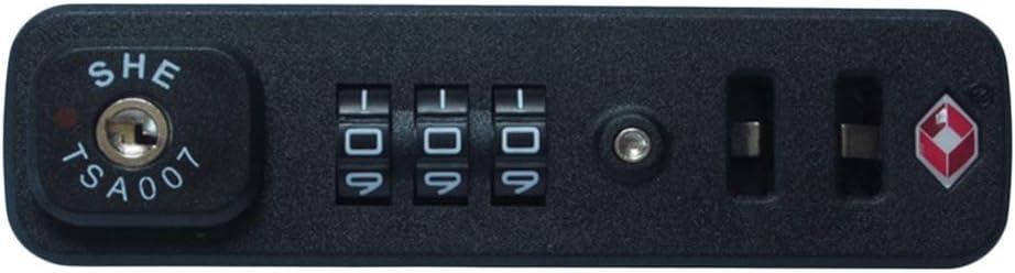 perfk Candado De Bloqueo Seguro TSA007, Configure Su Propia Combinación De Bolsas De Equipaje TSA Que Viajan Con Bloqueo De Código Seguro, HD-015A Color Neg