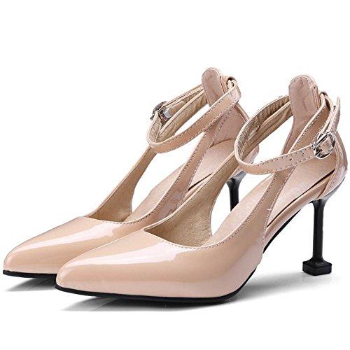 Zanpa Femmes Chaussures de Talon Bout Pointu 1#ivory 8cm c2tORglL