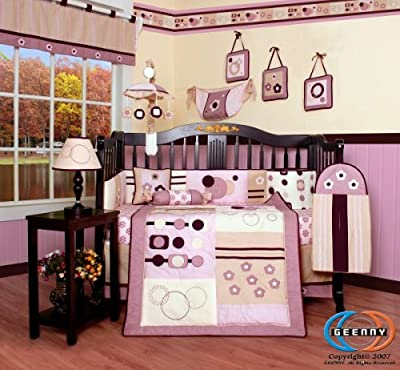 Boutique GEENNY Baby Girl Artist 13PCS CRIB BEDDING SET from GEENNY