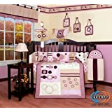 GEENNY Boutique Crib Bedding Set, Baby Girl Artist, 13 Piece