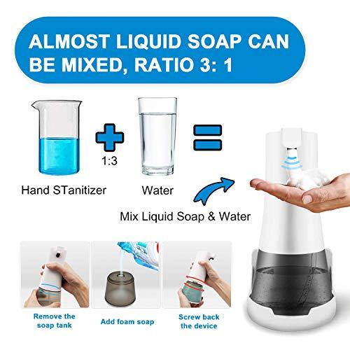 Touchless Automatic Soap Dispenser, Infrared Motion Sensor Foaming Hand-Free Washing Machine, Liquid Soap Dispenser for Kitchen Bathroom Washroom