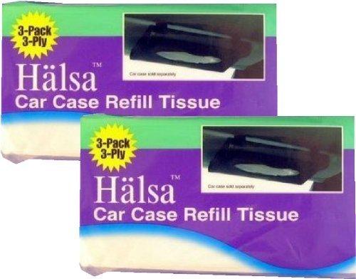 Halsa Auto Visor Tissue Refills for Tempo Visor - 2 Bags (Total of 6 Refills)