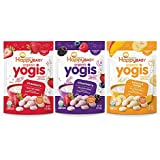 Happy Baby Organic Yogis Freeze-Dried Yogurt & Fruit Snacks 3 Flavor Variety Pack, 1 Ounce Bag (Pack of 6) Banana Mango, Mixed Berry, Strawberry, Easy to Chew Probiotic Snacks for Babies & Toddlers