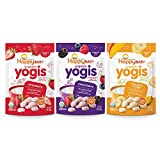 Happy Baby Organic Yogis Freeze-Dried Yogurt & Fruit Snacks, 1 Ounce Bags (3 Count Variety Pack) Mixed Berry, Banana Mango, Strawberry, Gluten-Free Easy to Chew Probiotic Snacks for Babies & Tots: more info