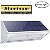 Cheap Licwshi 1100 Lumens Solar Light 48 LED 4500mAh Waterproof Outdoor Aluminum Alloy Housing, Radar Motion Sensor Light for Step, Garden, Yard, Deck -White Light(1 Pack)