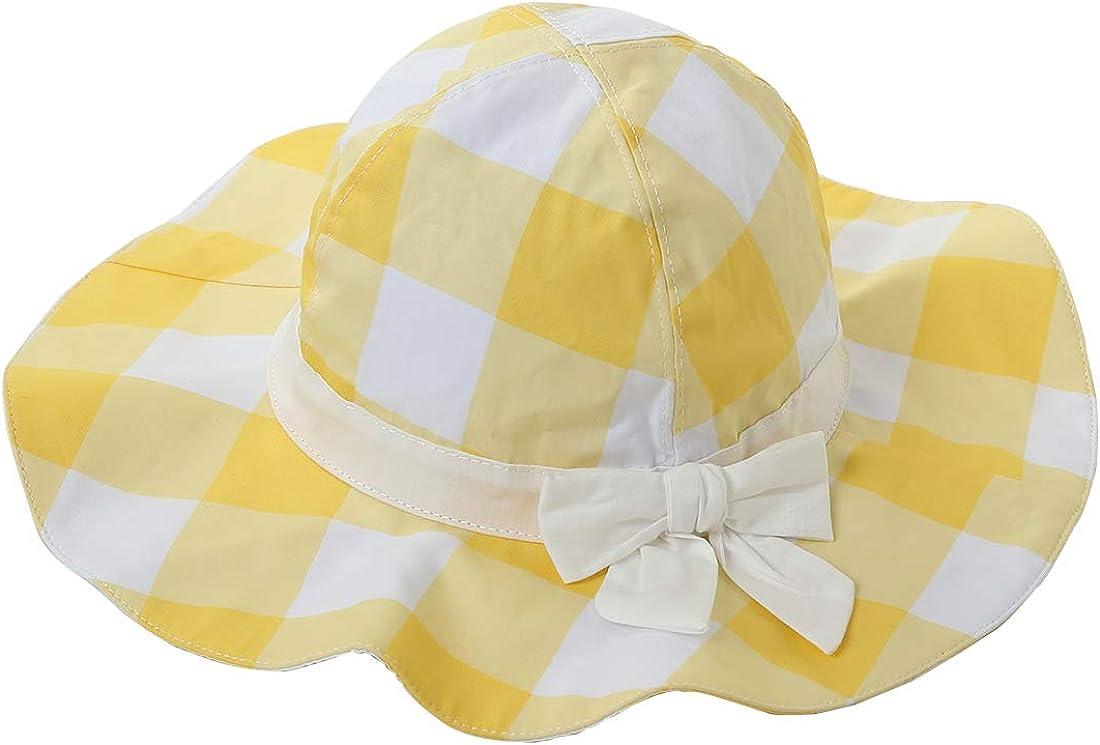 Wantbgd Cappello da Sole Bambina Ragazze Spiaggia Cotone Protezione Solare UPF50 Anti UV Estivo per Piscina Pesca Viaggio con Ampia Visiera