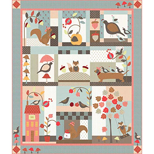 Bunny Hill Designs 101 Maple Street Quilt Kit Moda Fabrics ()