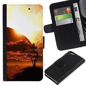 All Phone Most Case / Oferta Especial Cáscara Funda de cuero Monedero Cubierta de proteccion Caso / Wallet Case for Apple Iphone 6 // Sunset Planet Sci Fi