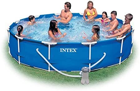 Intex 12 Foot By 30 Inch Metal Frame Pool Set Garden Outdoor