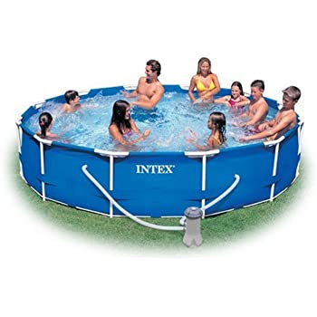intex 12 foot by 30 inch metal frame pool set - Intex Pools
