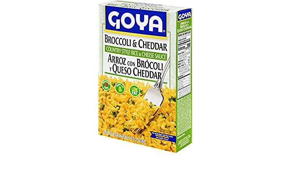 Amazon.com : Goya Foods Brocooli and Cheese Rice Mix, 8-Ounce (Pack of 24) : Prepared Rice Dishes : Grocery & Gourmet Food