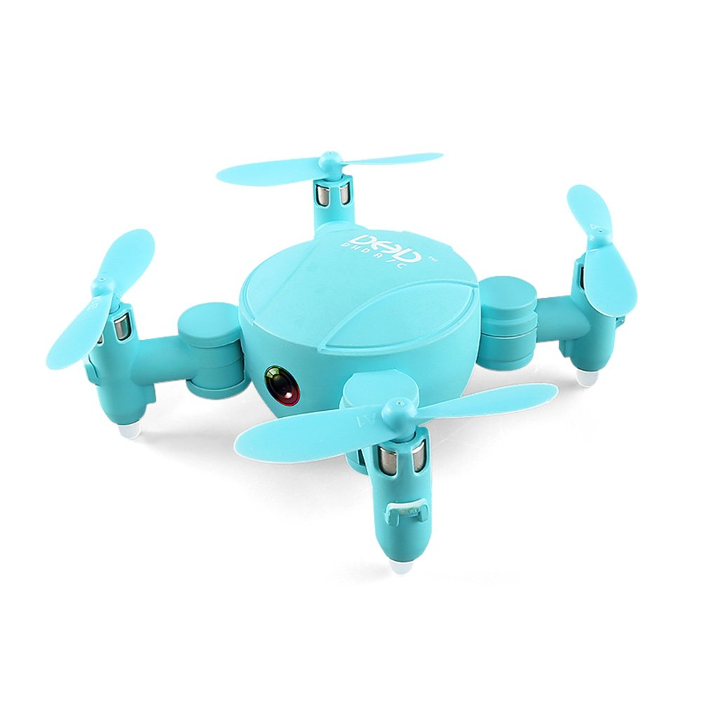 GEHOO GH JJRC DHD D4 Mini Tasche Drone Wifi FPV mit 720P Kamera Höhe Faltbare Modus RC Drone Quadcopter (Grün)