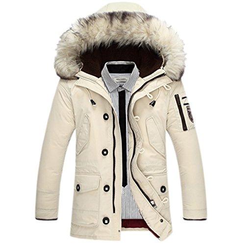 Chaqueta Invierno Sublevel Caliente Gruesa Lana White Grande Wintermantel Winterparka Ropa Mantel Piel Damen De Abajo Collar UrPUg6v7