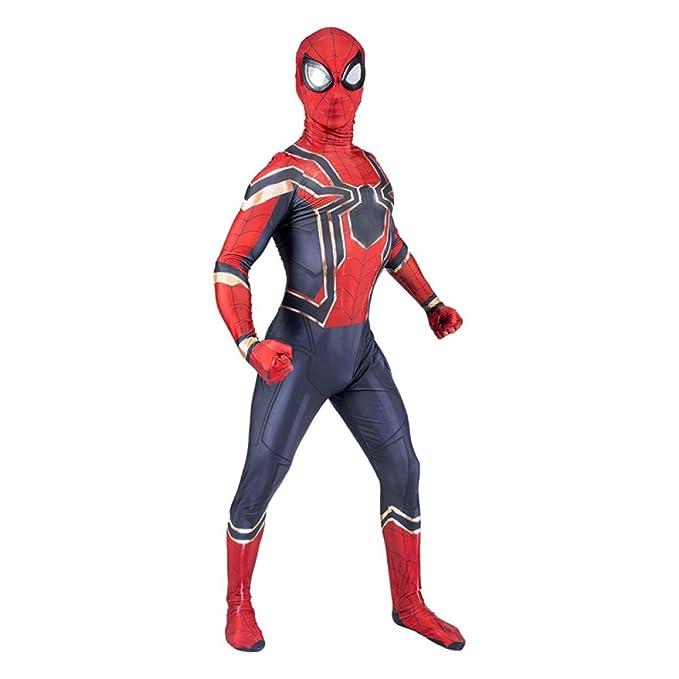 Traje de Cosplay de Spiderman Avengers Iron Spiderman Adulto ...