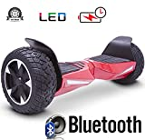 2018 Two Wheel Self Balance Scooter Off-Road Hoverboard UL 2272 Bluetooth Speakers 8.5 Inch All Terrain Road Condition (Red)