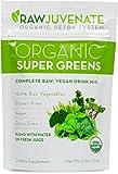 Raw Green Organics - RawJuvenate - Organic Super Greens - Complete Raw, Vegan Drink Mix - 3.95 oz. (112 Grams)