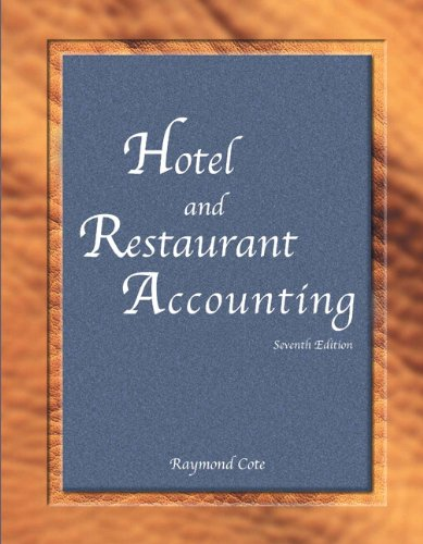 Hotel And Restaurant Accounting With Answer Sheet  Ahlei   7Th Edition   Ahlei   Hospitality Accounting   Financial Management