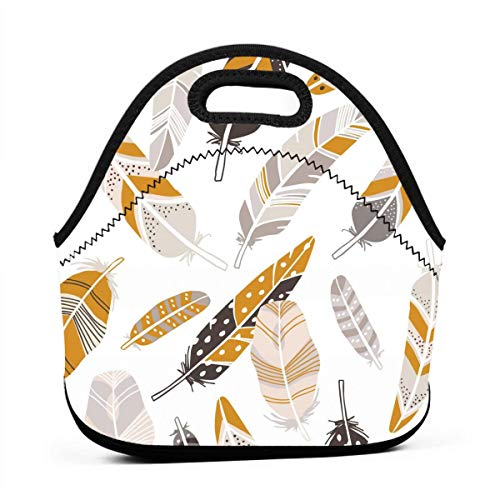 LKJDAD Cute Anthropologie Lunch Bag, Thick Insulated Lunchbox Bags,Tote Box with Zipper Closure for Kid Travel Picnic Office ()