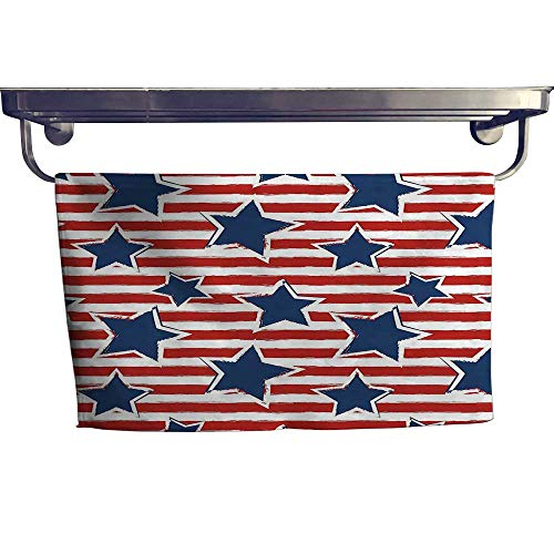 HoBeauty home Pool Gym Towels, Stars on Stripes USA Americana Theme Independence National Celebration Pa,Good Ideal for The Kid's Room, a Guest Room W 23.5
