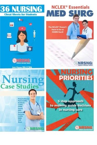Nursing Student Book Collection (Cheat Sheet, Priorities, MedSurg, Case Studies)