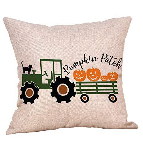 Halloween Pillow Cases,KIKOY Linen Sofa Cute Pumpkin Series Cushion Cover Home Decor -