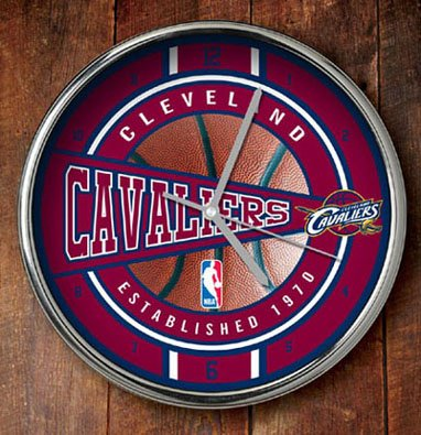 NBA Cleveland Cavaliers Official Chrome Clock, Multicolor, One Size