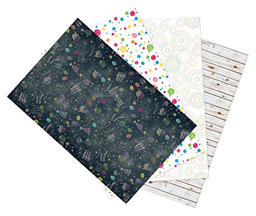 Ella Bella Photography Backdrop Paper, Assorted Designs, 48″ x 12′, 4 Rolls