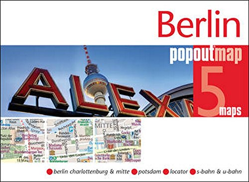 Berlin PopOut Map 5 Maps  Berlin Charlottenburg And Mitte Potsdam Locator S Bahn And U Bahn  Popout Maps