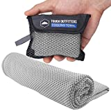 Instant Cooling Towel - Stay Cool, Fresh & Active for Hours. Ideal for All Sports & Outdoor Adventures - Camping, Hiking, Gym Workout, Fitness, Yoga, Golf. Wear it as a Neck Wrap. UPF 50 (L Gray)