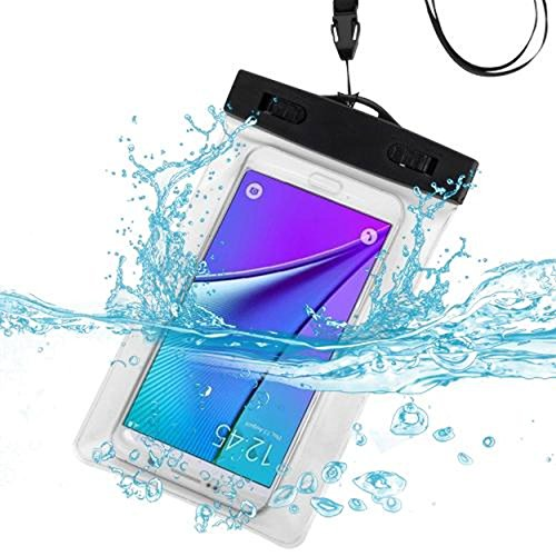 Cell Accessories For Less (TM) Transparent Clear Waterproof Underwater Phone Pouch Bag with Lanyard for Samsung Rugby Pro i547 Bundle (Stylus & Micro Cleaning Cloth) - By TheTargetBuys
