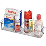 mDesign Bathroom Medicine Cabinet Organizer for Vitamins Medical Supplies, Makeup - Clear