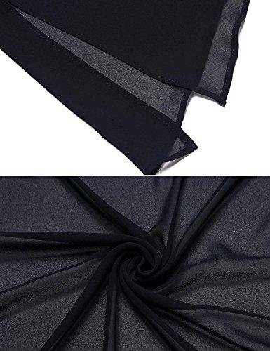 Baggy Cardigan Comodo Solare Prospettiva Bobolily Giubbino Marineblau Libero Leggero 3 4 Elegante Manica Giacche Tempo Estivi Donna Protezione Camicetta 6nndgBfR
