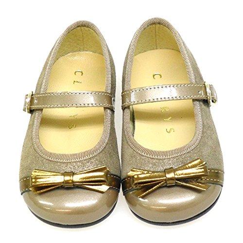 Zapato mercedes Clarys 1047 Platino ORO