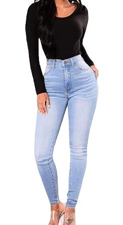 Amazon.com: FreelyWomen - Pantalones vaqueros de tela ...