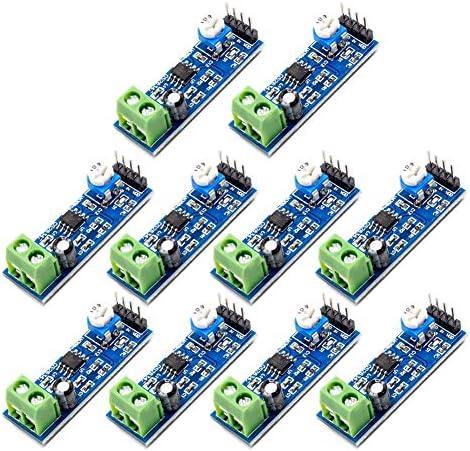 Onyehn 10pcs LM386 200 Times gain Audio Power Amplifier Module Amplifier Board Mono Power Amplifier 5V-12V Input for Arduino EK1236
