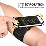VUP Ultra Thin Running Armband for iPhone X/8 Plus/8/7 Plus/6S Plus/6, Galaxy S9 Plus/S9/S8 Plus/S7 Edge/S6, Note 8, Google Pixel, Breathable Lightweight Sport Armband Ideal for Cycling Hiking Gym