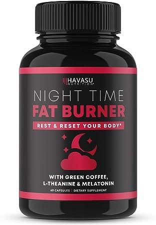 Havasu Nutrition Night Time Fat Burner   Metabolism Booster, Appetite Suppressant & Sleep Supplement to Support Weight Loss   60 Weight Loss Supplement Pills for Men
