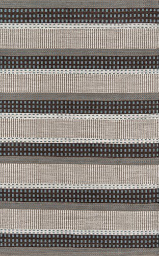 Momeni Rugs MESA0MES12BLU90C0 Mesa Collection, 100% Wool Hand Woven Flatweave Transitional Area Rug, 9' x 12', Blue