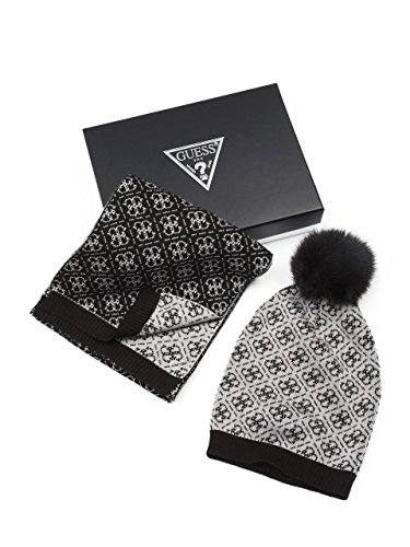 f0abc061737 GUESS Women s 4-G Logo Beanie and Scarf Gift Set