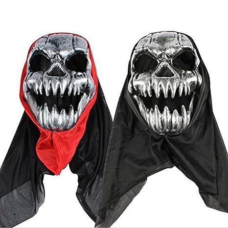 DaoRier 1pc Cosplay Horror Fantasmas Máscara de Látex Mascara Diseno de Craneo Esqueleto para Halloween