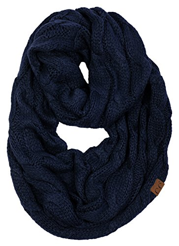S1-6100-31 Funky Junque Infinity Scarf - Navy (Solid)