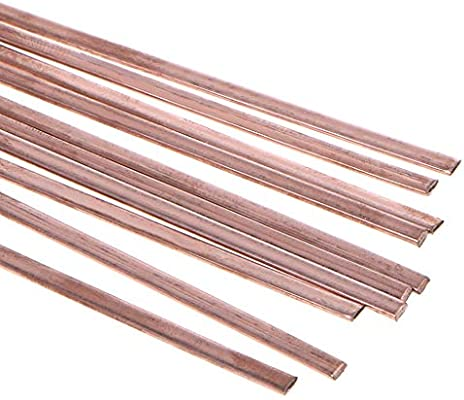 10Pcs Low Temperature Flat Soldering Rods For Welding Brazing Copper 3x1.3x400mm
