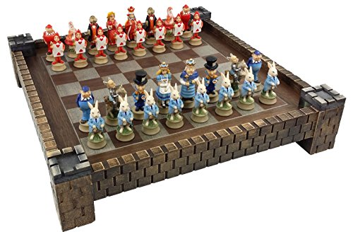 HPL Alice in Wonderland Fantasy Chess Set with 17 1/2
