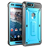Nexus 6P Case, SUPCASE [Heavy Duty] Belt Clip Holster Case for Google Nexus 6P (2015 Release) [Unicorn Beetle PRO Series] Full-body Rugged Hybrid Protective Cover with Screen Protector (Blue/Black)