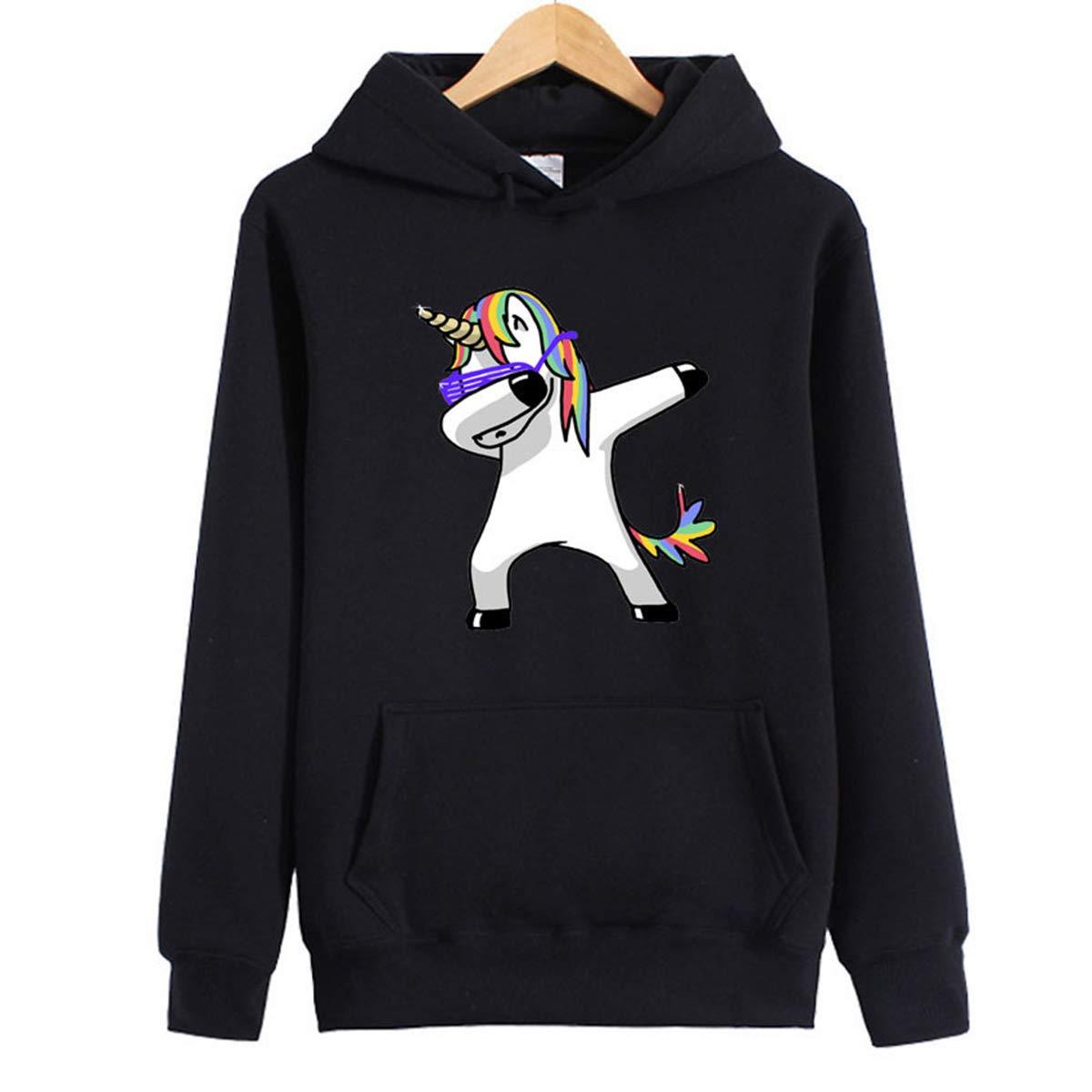 Amazon.com: oboss Cute Unicorn Rainbow Pullover Hoodie Sweatshirt Long Sleeve Sweater Hoodie for Girls and Women: Clothing