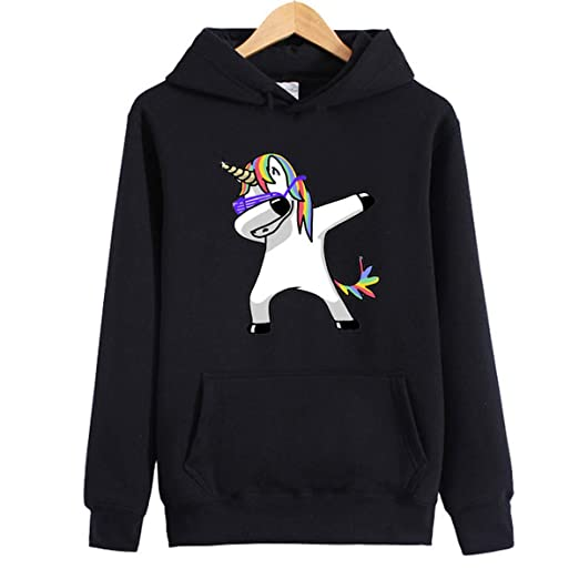 oboss Cute Unicorn Rainbow Pullover Hoodie Sweatshirt Long Sleeve Sweater Hoodie for Girls and Women (